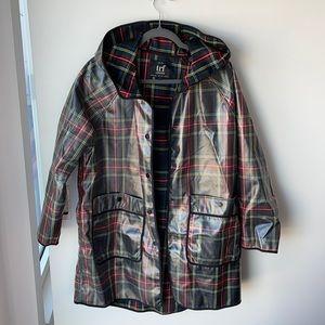 Zara plaid rain jacket